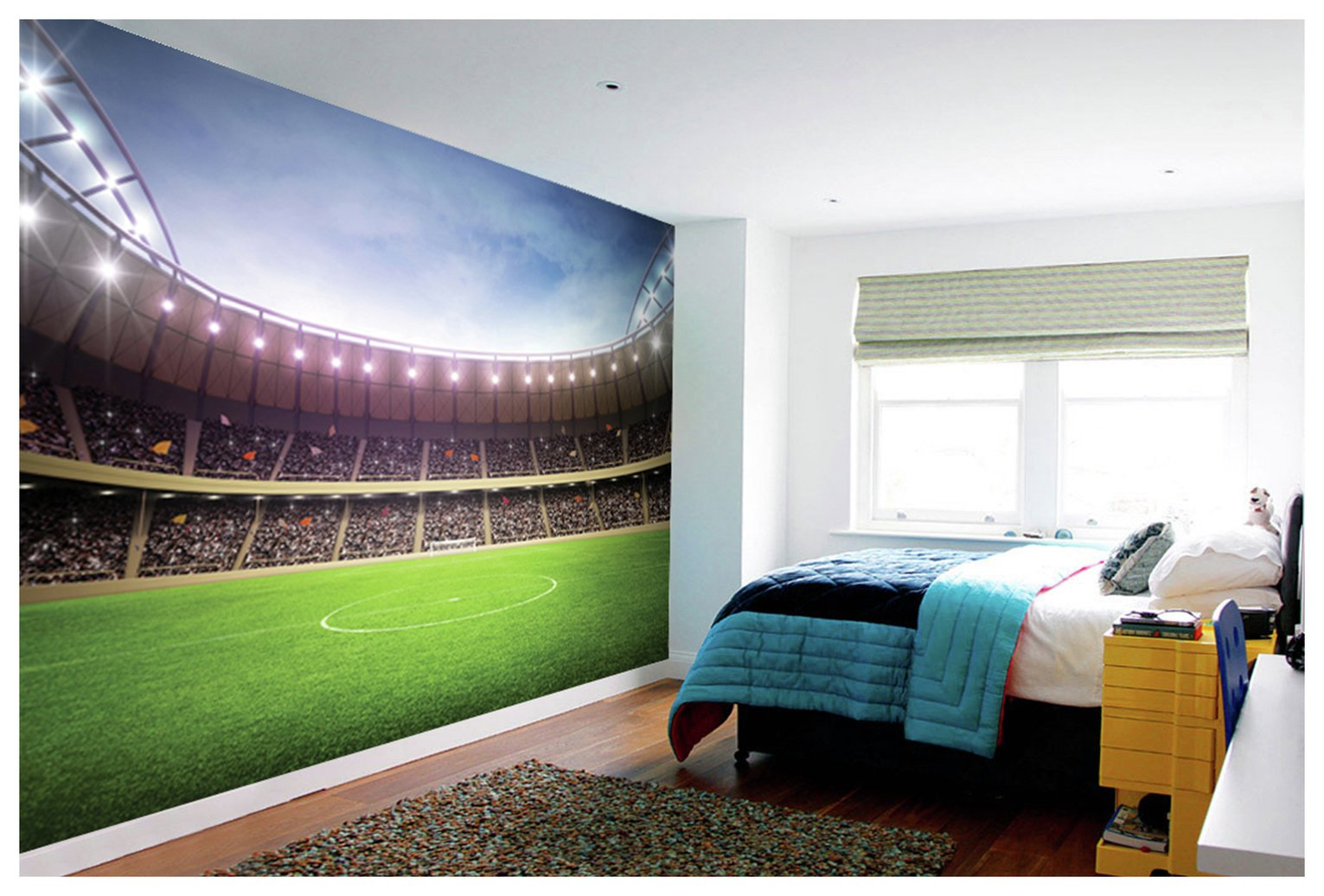 1Wall Football Stadium Wall Mural.