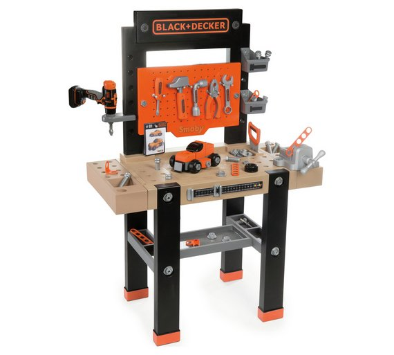 buy smoby star giant black & decker workbench | building role play ...