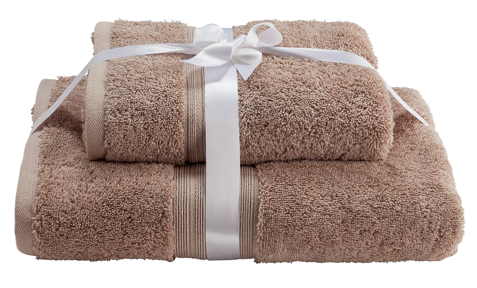 Argos Home Egyptian Cotton 2 Piece Towel Bale - Pebble