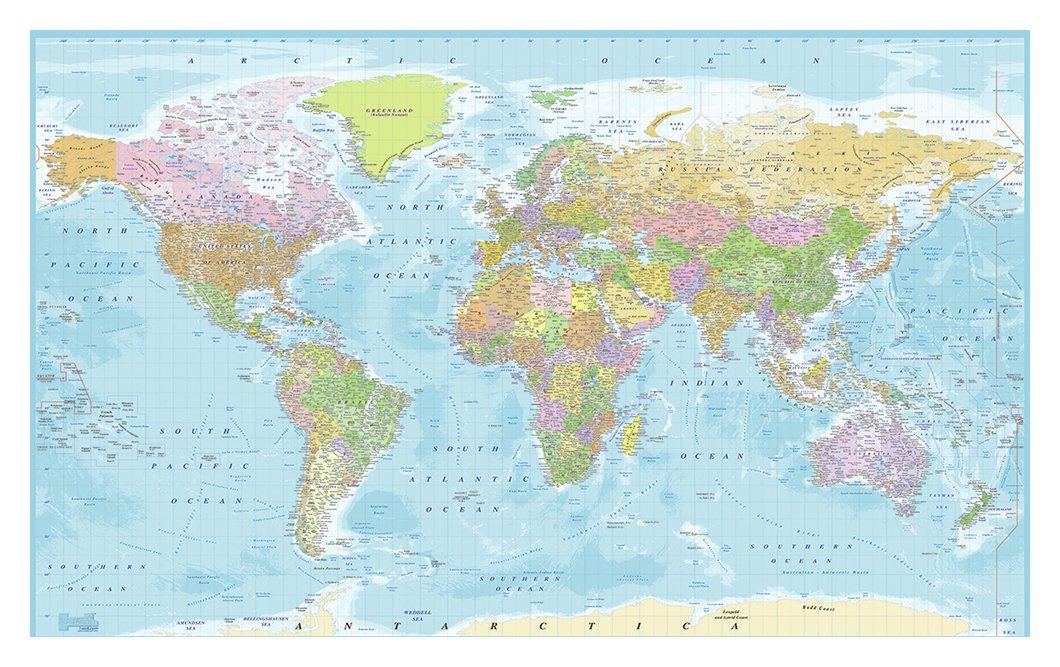 1Wall World Map Wall Mural.