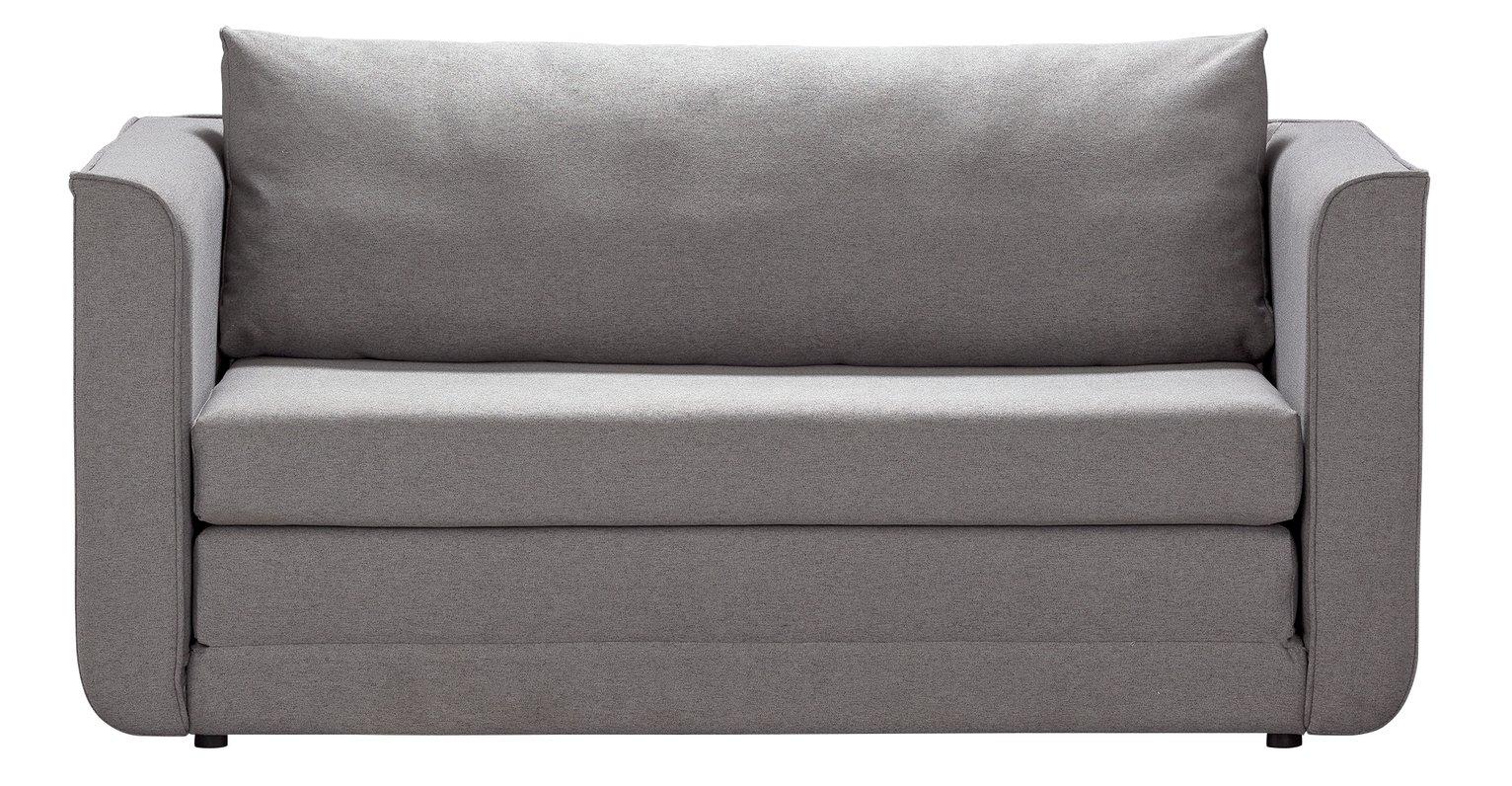 Argos Home Ada 2 Seater Fabric Sofa Bed - Light Grey