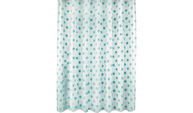 Argos Home Polka Dot Shower Curtain