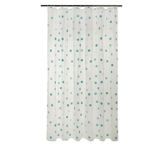 Buy Argos Home Polka Dot Shower Curtain