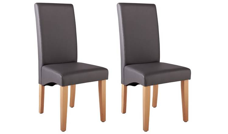 Excellent Buy Argos Home Pair Of Skirted Dining Chairs Charcoal Dining Chairs Argos Ibusinesslaw Wood Chair Design Ideas Ibusinesslaworg