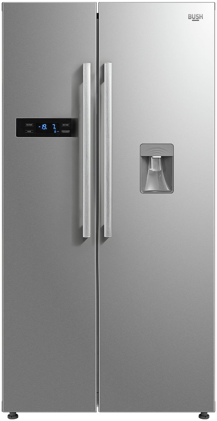 Bush MSBSNFWTDSS American Fridge Freezer - Stainless Steel