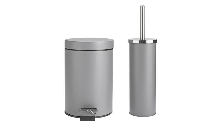 Buy Argos Home Slow Close Bin and Toilet Brush Set - Flint ...