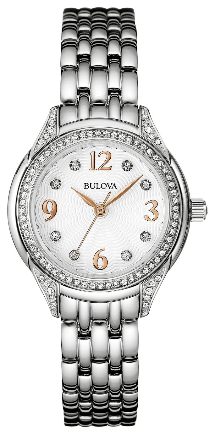 Bulova Ladies' Swarovski Crystal Two Tone Rose Watch