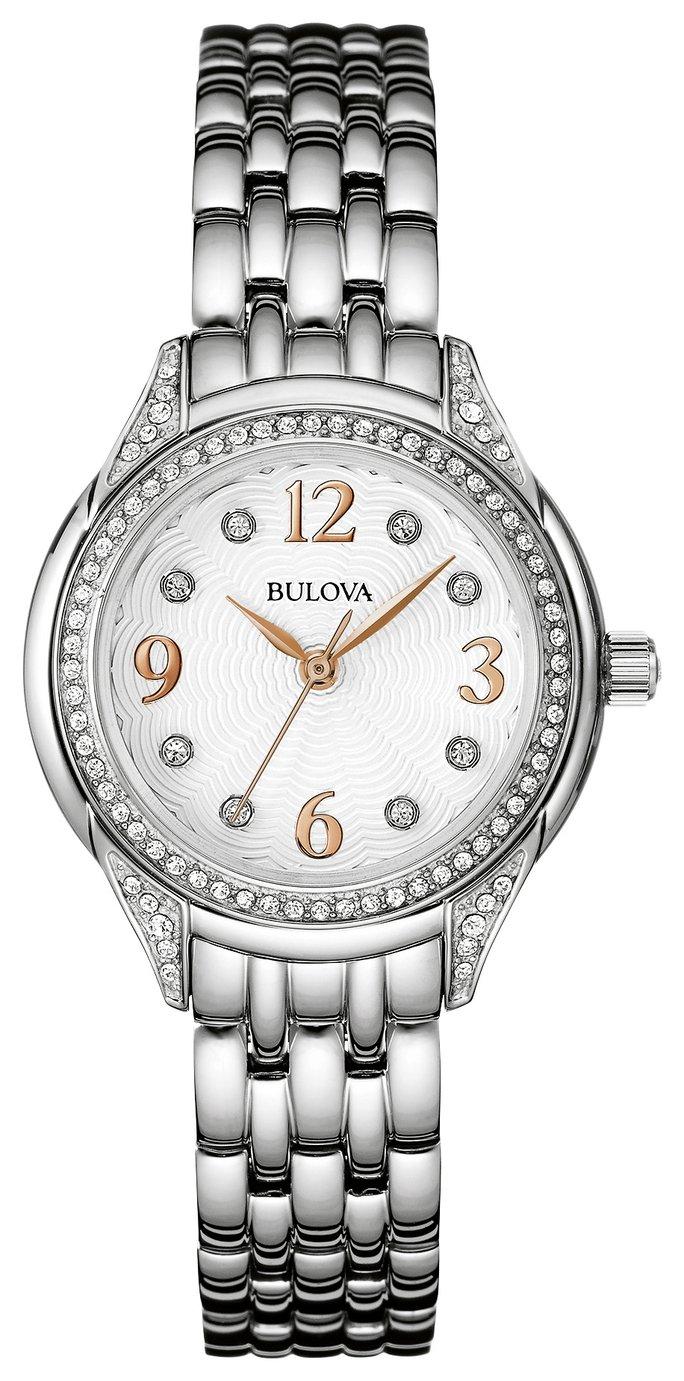 Bulova Ladies' Swarovski Crystal Two Tone Rose Watch