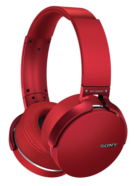 Sony MDR-XB950B1 Wireless Over-Ear Headphones - Red