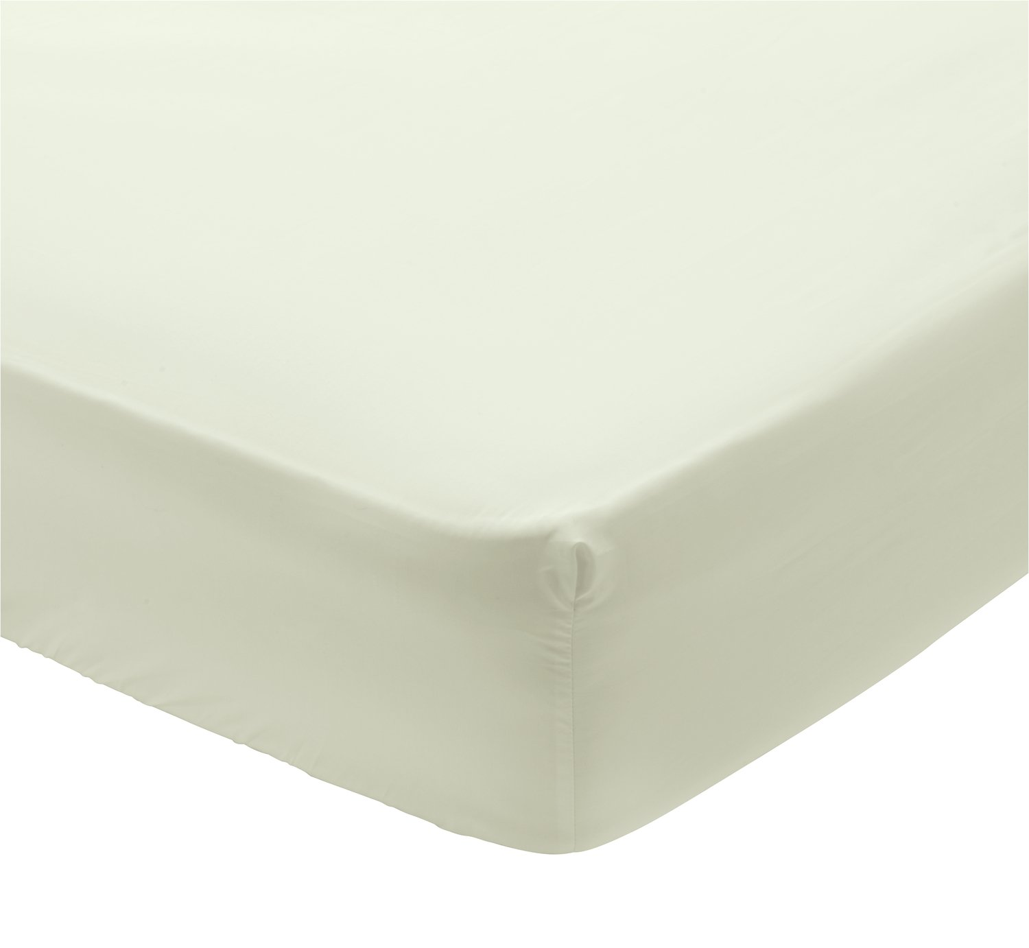 Argos Home 400 TC Ivory Deep Fitted Sheet - Superking