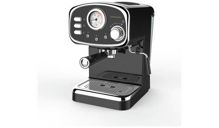 Buy Cookworks Cm5013b Gs Espresso Coffee Machine Coffee Machines Argos