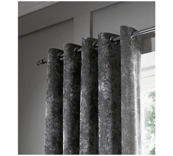 Catherine Lansfield Crush Velvet Curtains 168x183cm
