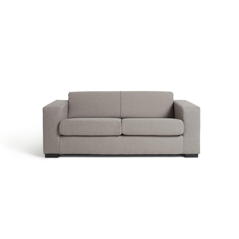 Habitat Ava Compact 3 Seater Fabric Sofa - Light Grey
