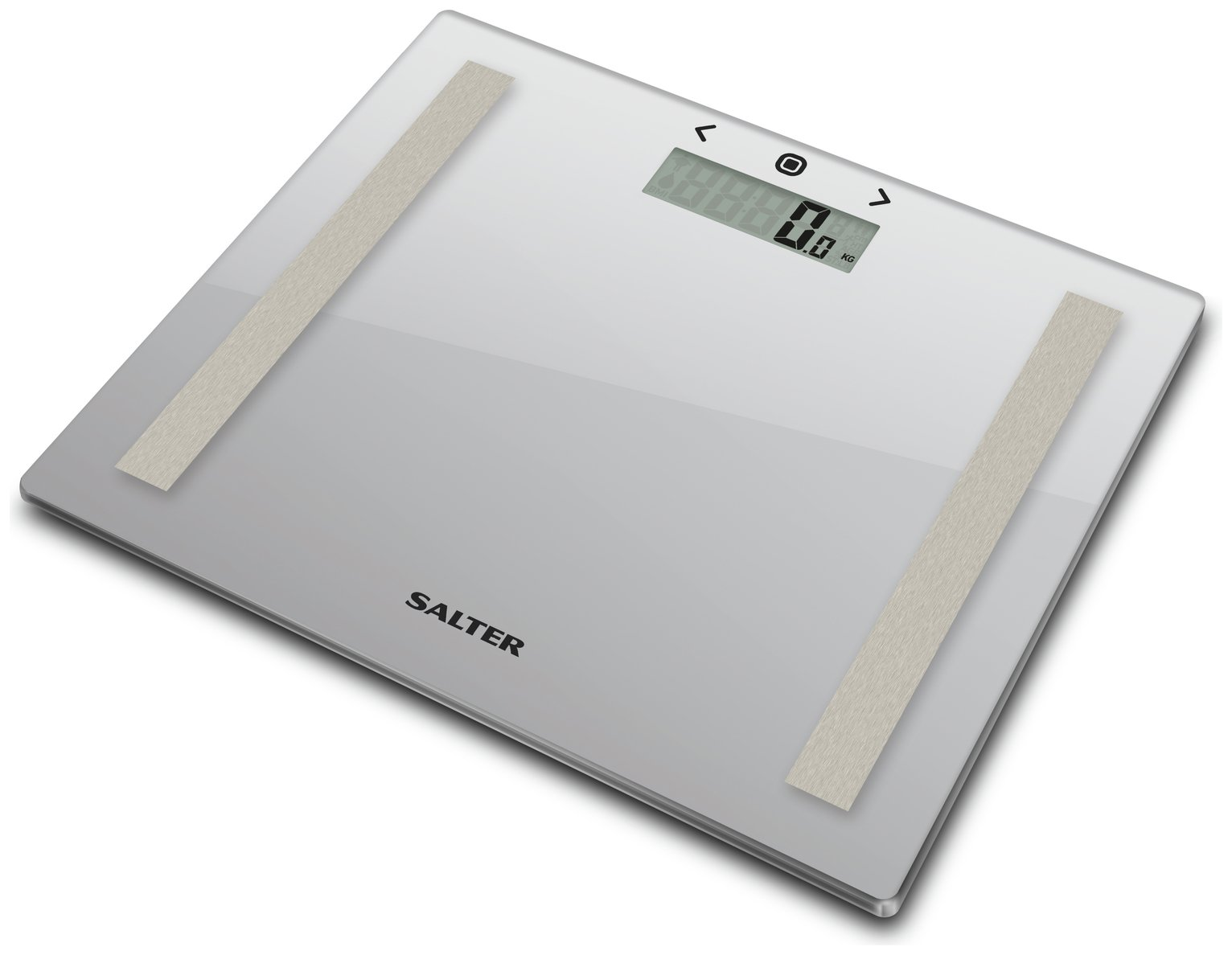 Salter Compact Glass Body Analyser Scale - Silver