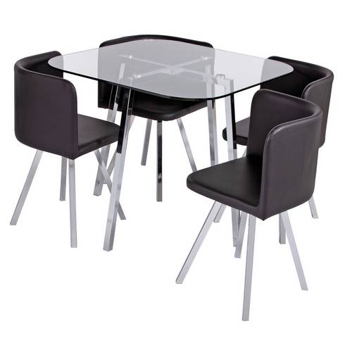 Buy Argos Home Elsie Glass Dining Table And 4 Chairs