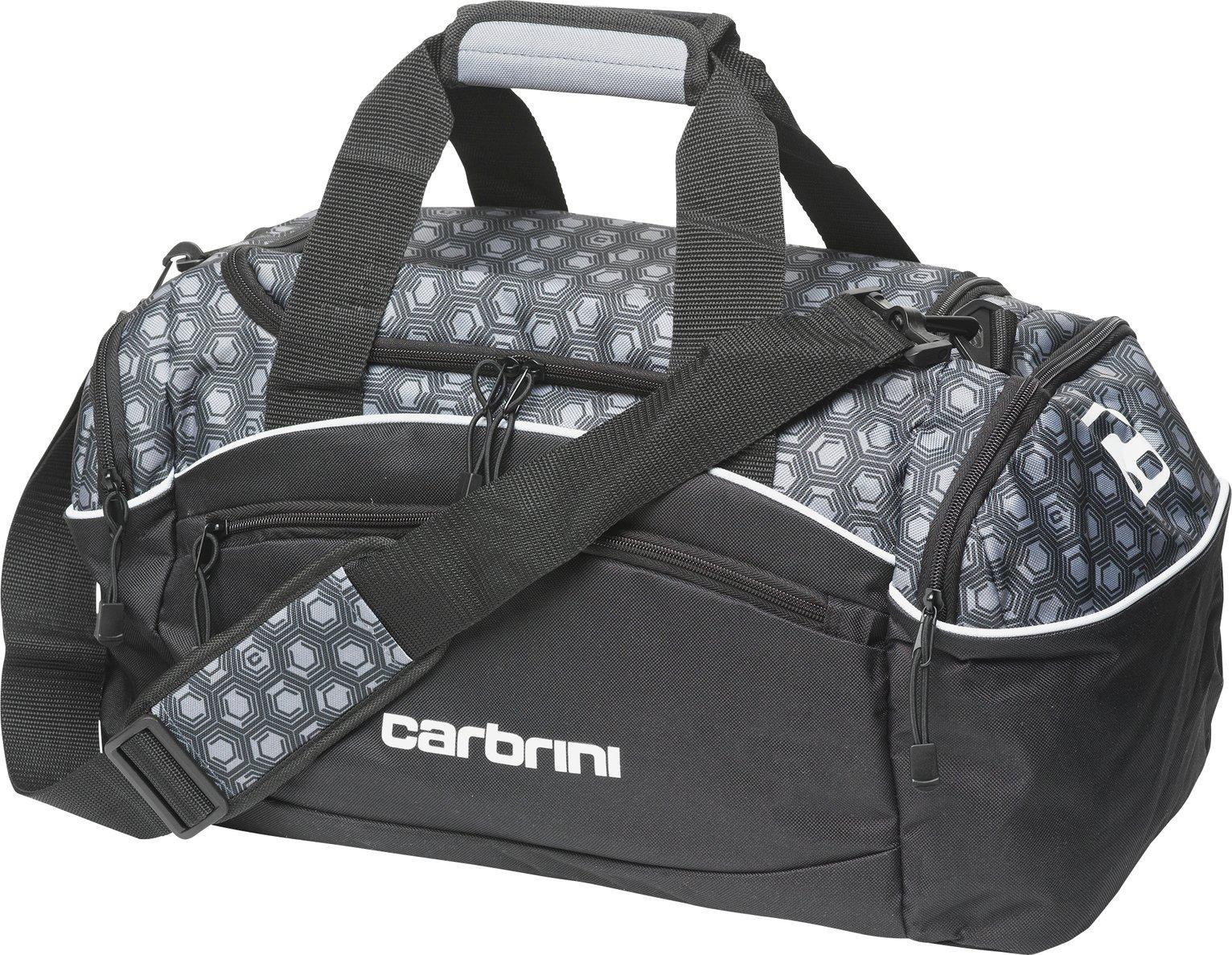 Carbrini Medium Geometric Black Holdall