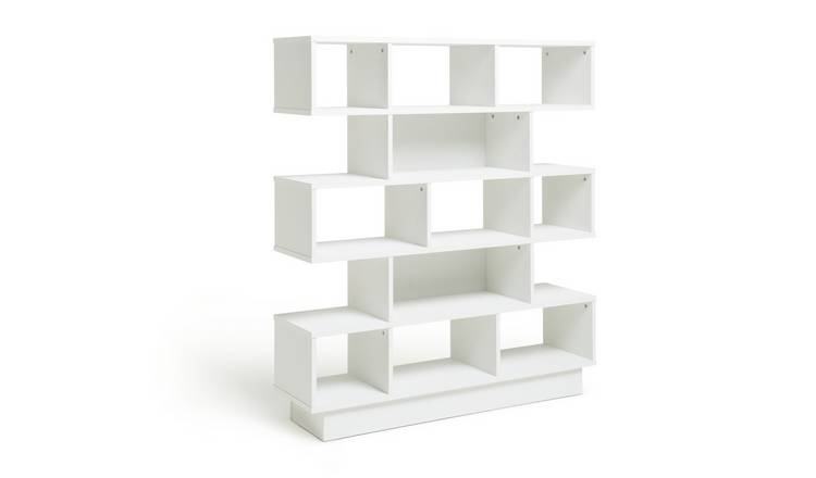 Habitat Cubes 5 Tier Wide Bookcase - White