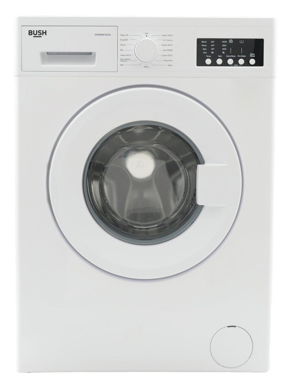 Bush WMSAE812EW 8KG 1200 Spin Washing Machine - White
