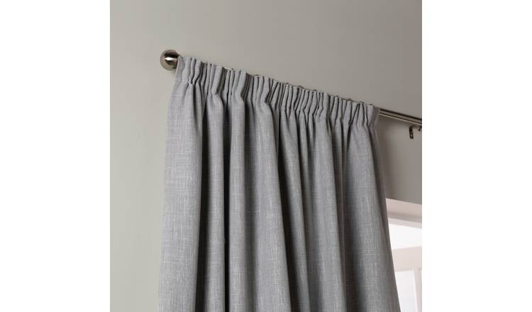 Habitat Blackout Lined Pencil Pleat Curtains - Dove Grey
