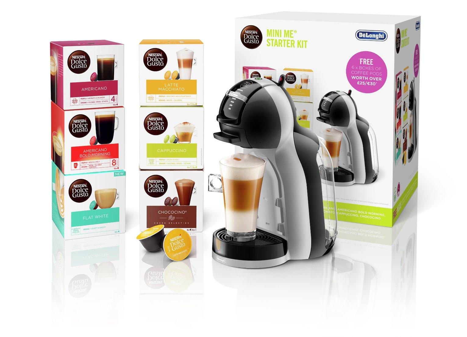 Nescafe Dolce Gusto De'Longhi Mini Me Coffee Machine Bundle