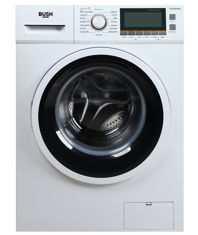Bush WDSAE86W 7KG/8KG 1400 Spin Washer Dryer - White