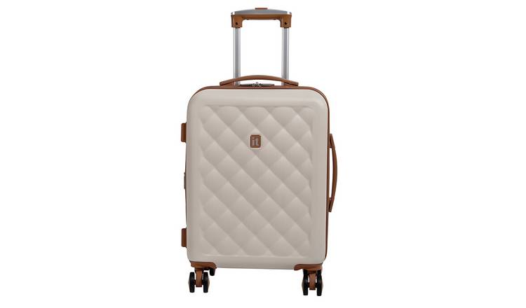IT 8 Wheel Hard Quilt Cream/ Tan Expander Cabin Case