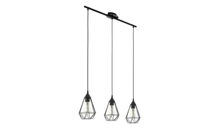 Eglo Tarbes 3 Light Pendant - Black