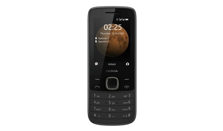 SIM Free Nokia 225 4G 64MB Mobile Phone - Black