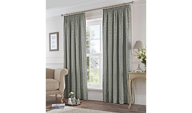 Fusion Eastbourne Lined Curtains - 168x229cm - Silver.
