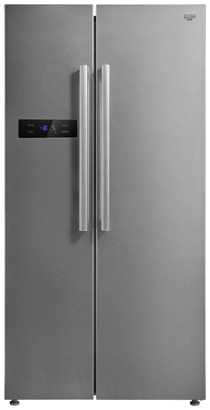 Bush MSBSNFSS American Fridge Freezer - Stainless Steel Best Price, Cheapest Prices