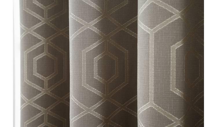 Curtina Camberwell Eyelet Curtains - 168x229cm - Stone