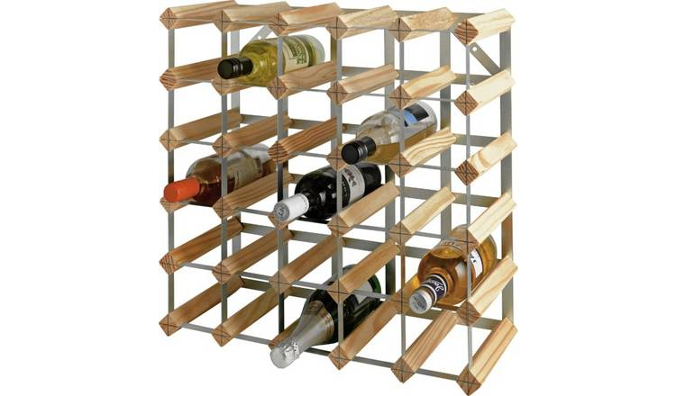 Argos Home 30 Bottle Wooden Wine Rack