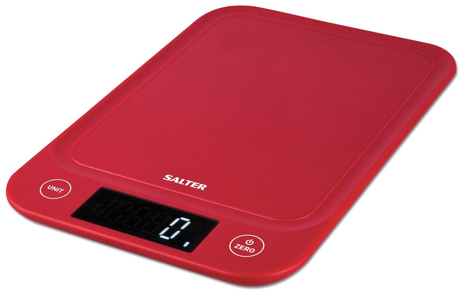 Salter Slim 5kg Kitchen Scale - Red