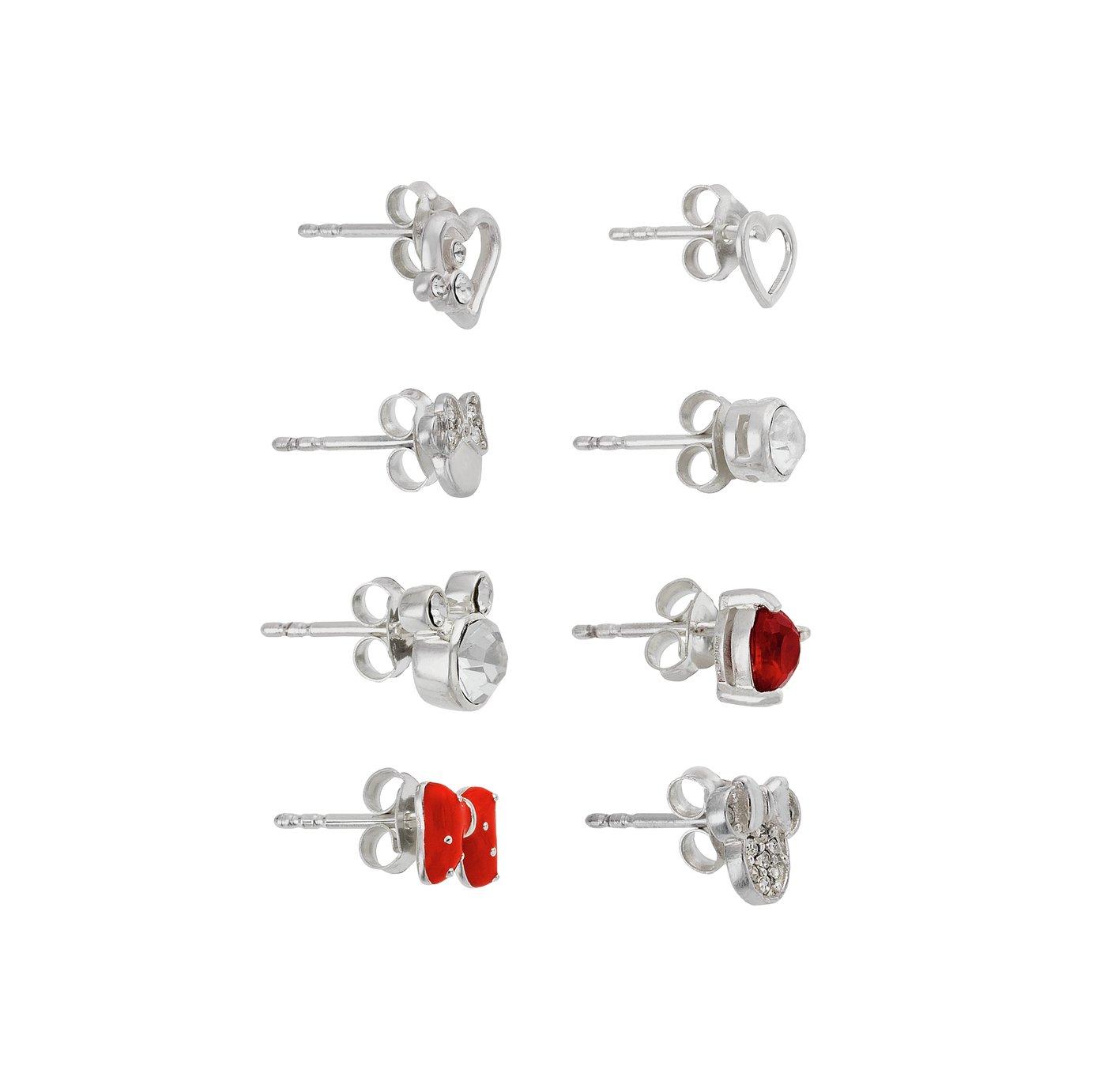 Disney Minnie & Mickey Single Stud Earrings - Set of 8