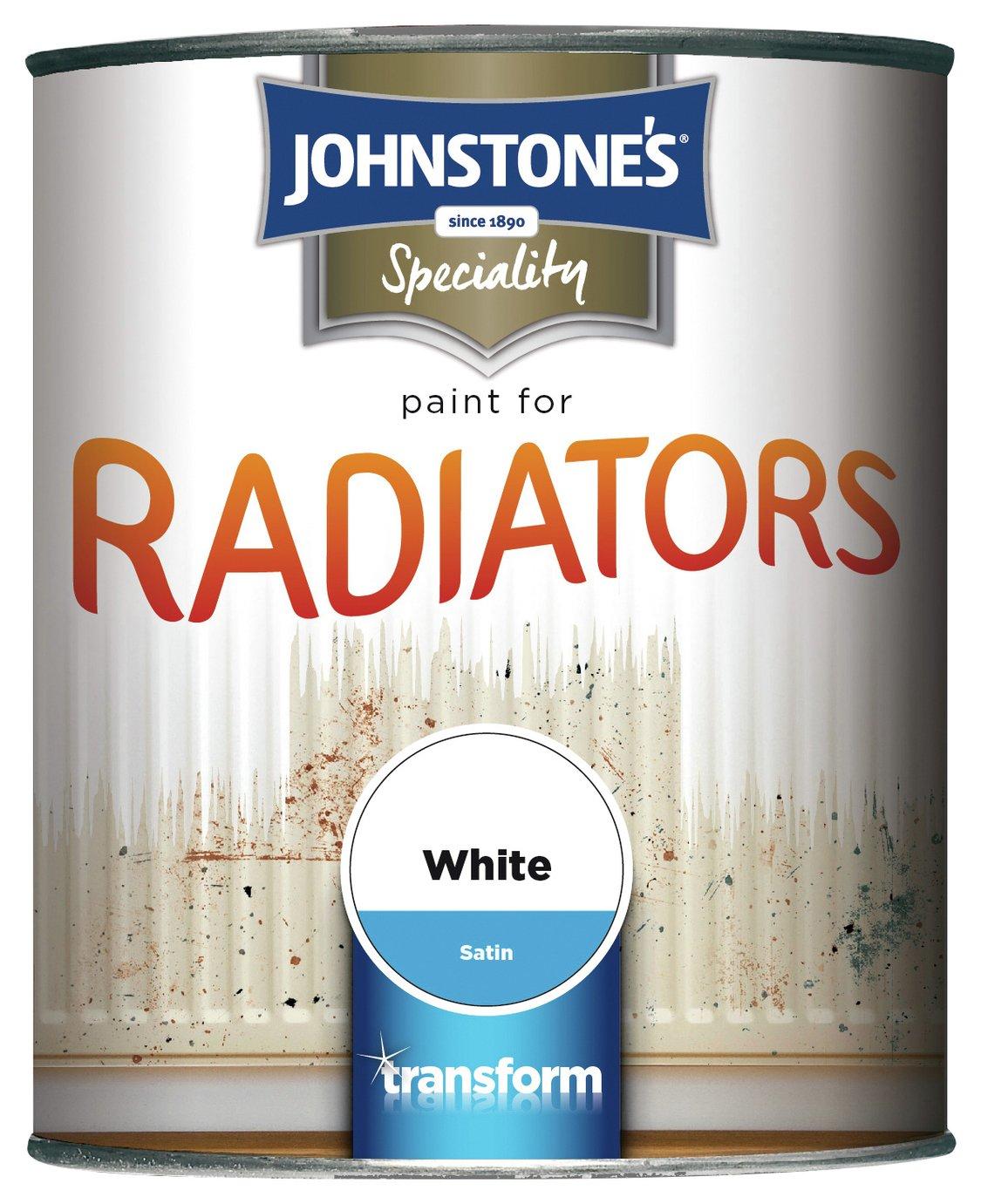 Johnstone's Radiator Satin Paint 750ml - White