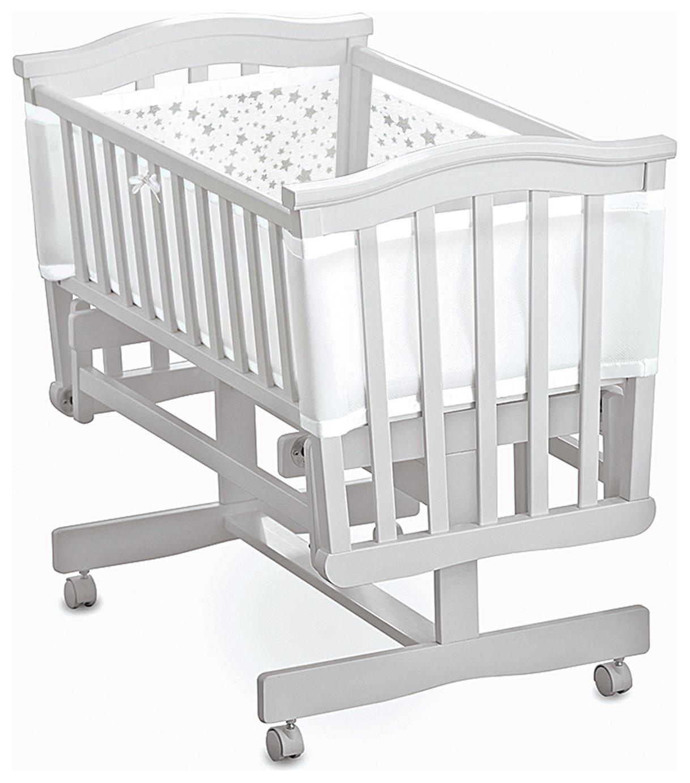 BreathableBaby Twinkle Twinkle Grey Crib Liner