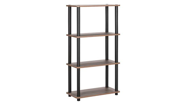 Argos Home New Verona 3 Shelf Bookcase - Dark Wood Effect