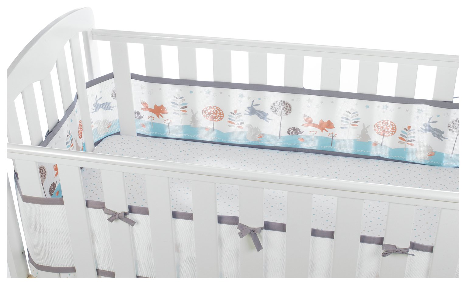BreathableBaby 4 Sided Cot Liner - Enchanted Forest