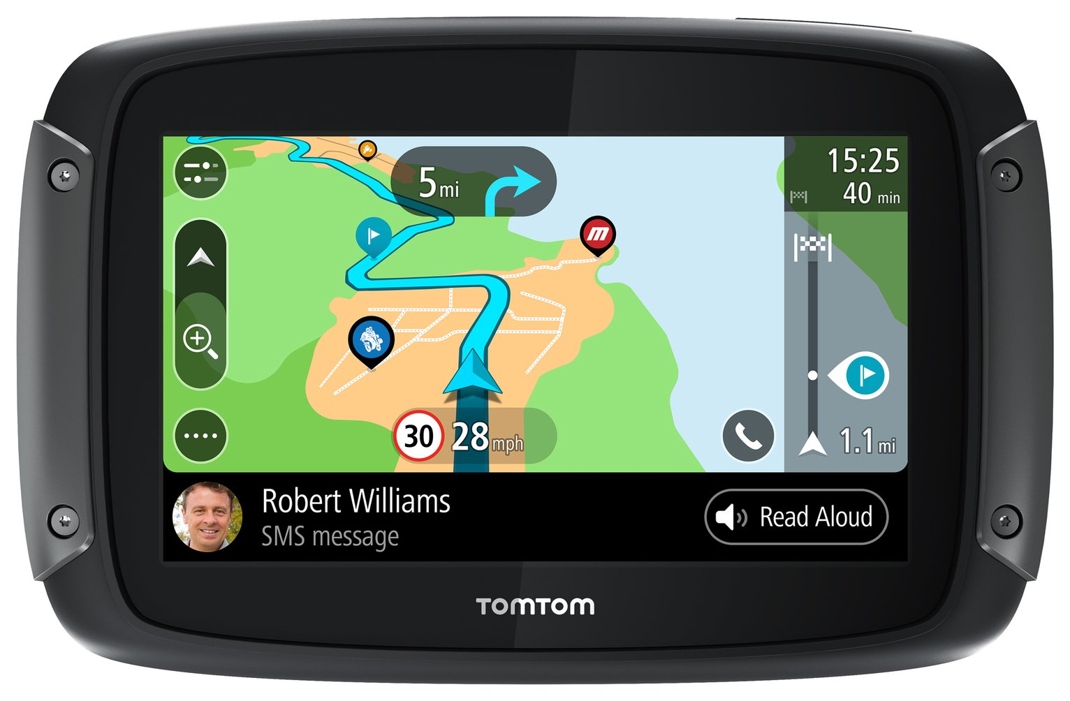 TomTom Rider 500 Motorcycle 4.3 In Sat Nav With Europe Maps