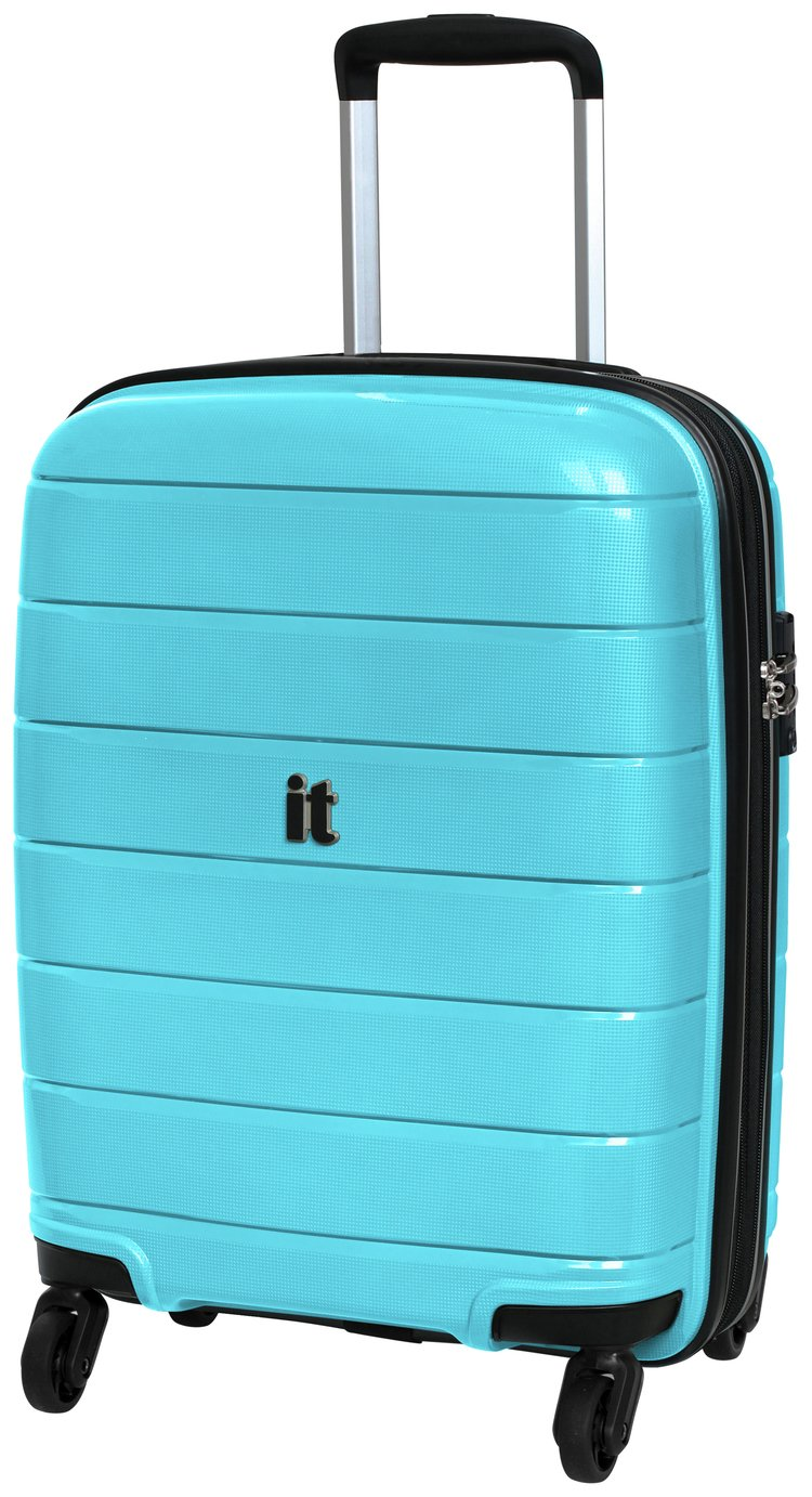 Buy It Luggage Asteroid 4 Wheel Hard Cabin Suitcase Ice Blue