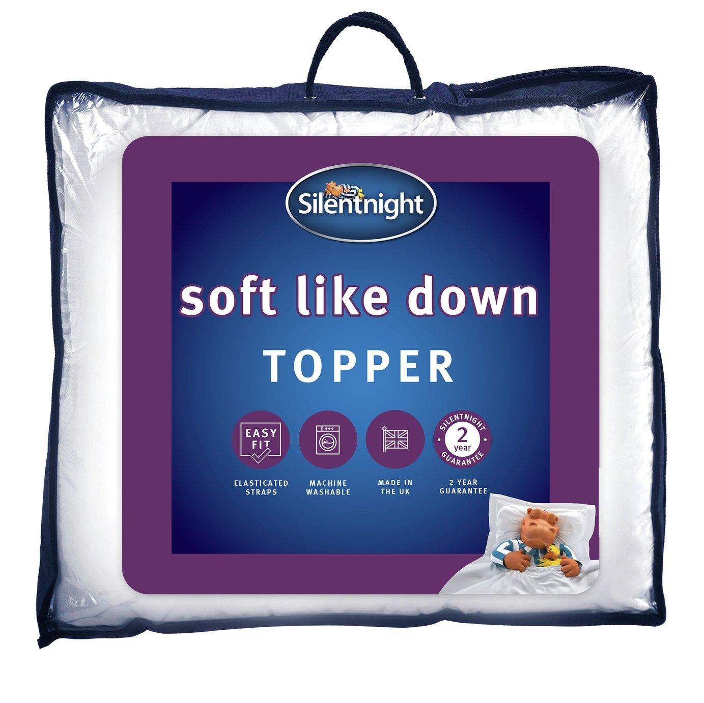 Silentnight Soft Like Down Mattress Topper - Double