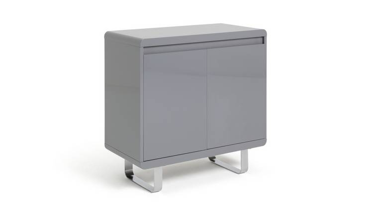 Habitat Sleigh 2 Door Sideboard - Gloss Grey