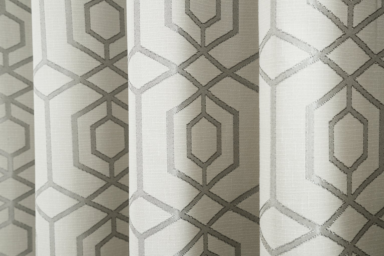 Curtina Camberwell Eyelet Curtains - 229x229cm - Silver