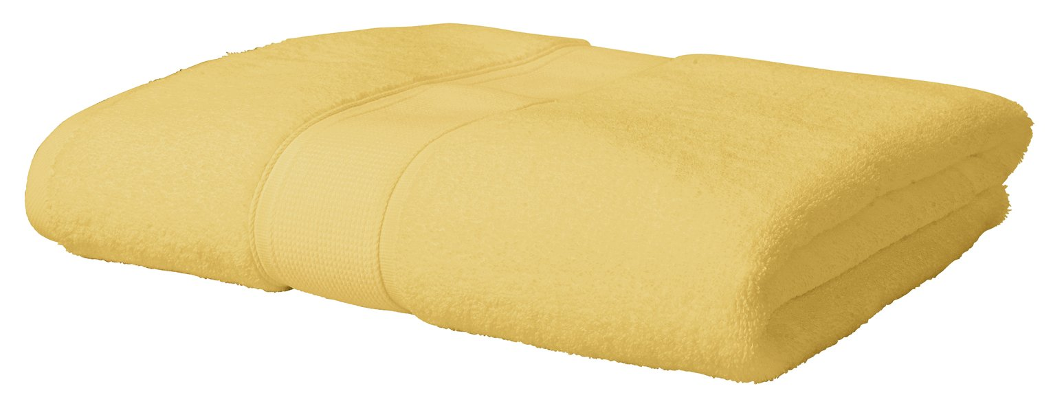 Argos Home Super Soft Bath Sheet- Mustard