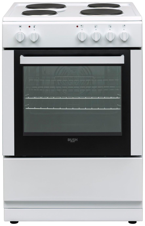 Bush DHBES60W 60cm Single Oven Electric Cooker - White