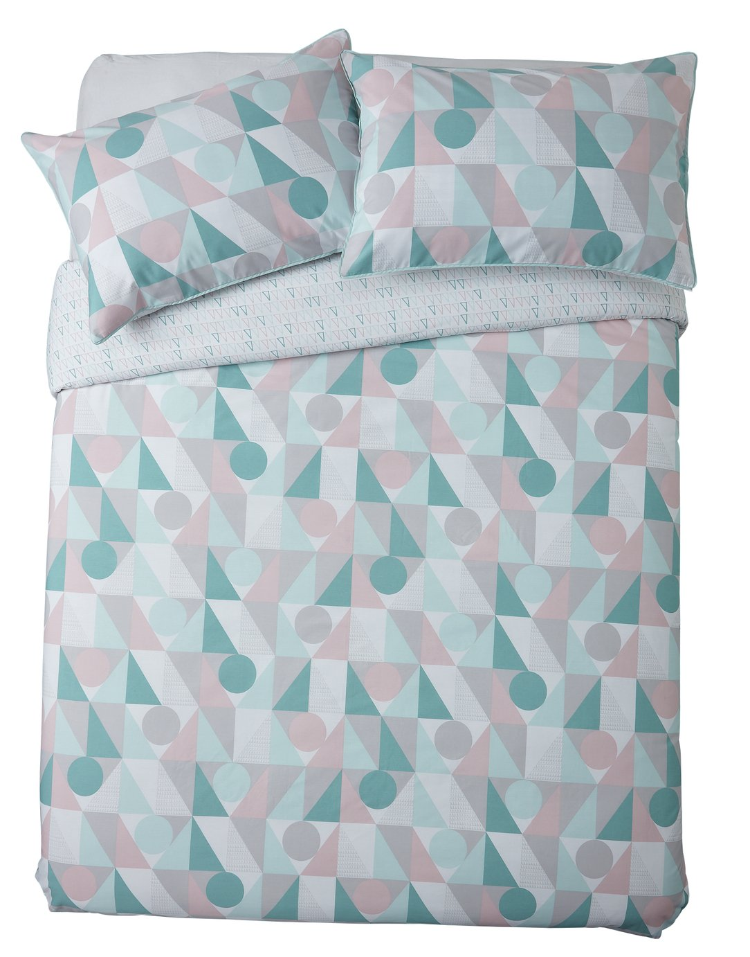 Sainsbury's Home Triangle Print Bedding Set - Kingsize