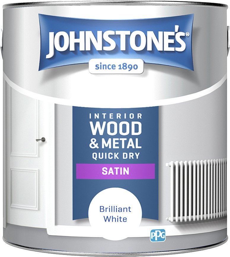 Johnstone's Quick Dry Satin Paint 2.5 Litre - White