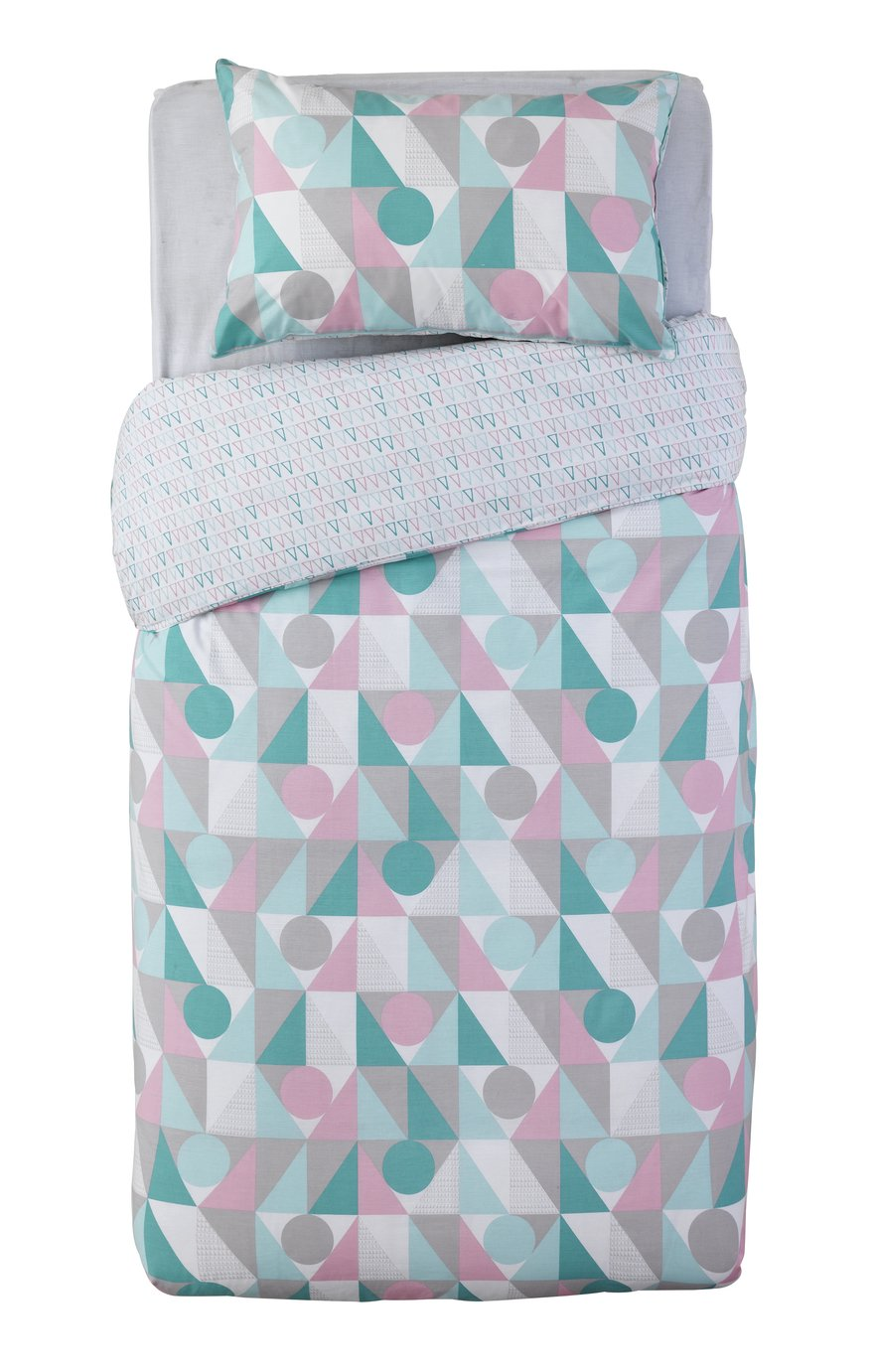 Sainsbury's Home Triangle Print Bedding Set - Single