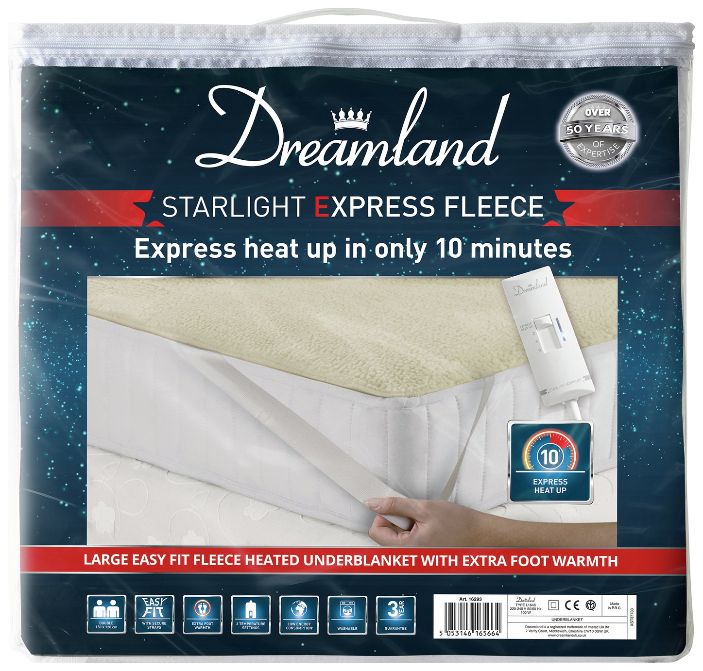 Dreamland Starlight Express Heated Underblanket - Double