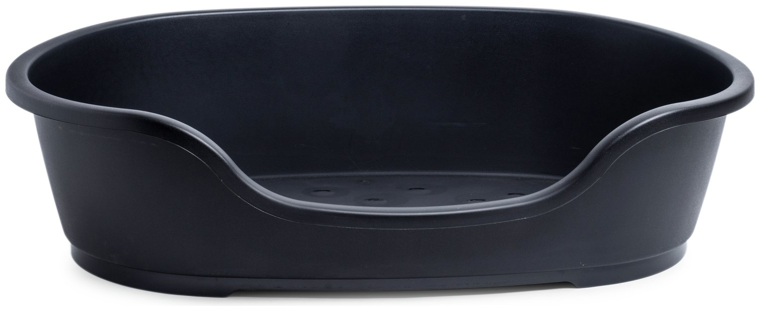 Petface Black Plastic Dog Bed - Extra Large